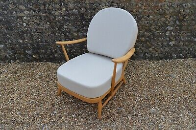 Vintage Ercol 203 Windsor Armchair: New Cushions And Covers • 645£