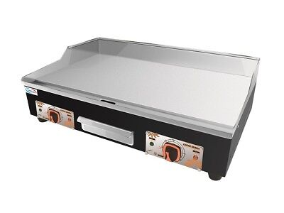 Large Commercial Electric Griddle Hotplate 73 Cm Flat Grill With UK Double Plugs • 159.99£