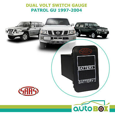AU59.55 • Buy SAAS Dual Battery Volts Switch Gauge Digital Gauge Suits Nissan GU Patrol 97-04