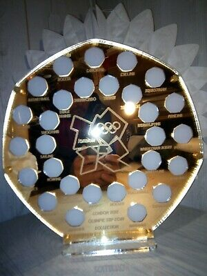50p Pence Coin Hunt Mirror Gold Gardens Stand Olympic 2012 50p Display Holder  • 58.99£