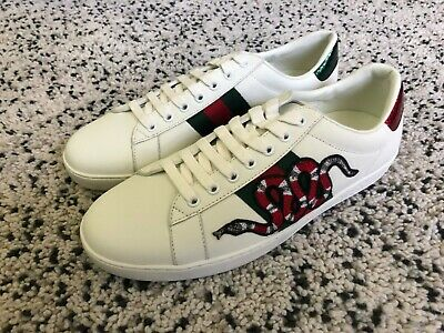 612882d5f White Mens Gucci Ace Shoes Sneakers Size 10 • 162.50$