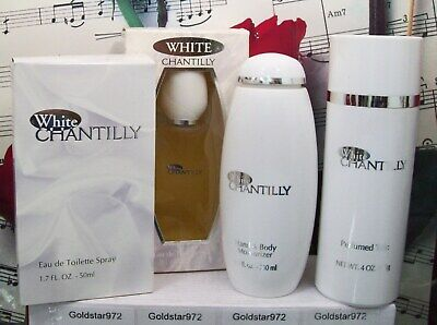 White Chantilly By Dana EDT Spray, Body Lotion Or Body Talc. Choose From • 49.99$