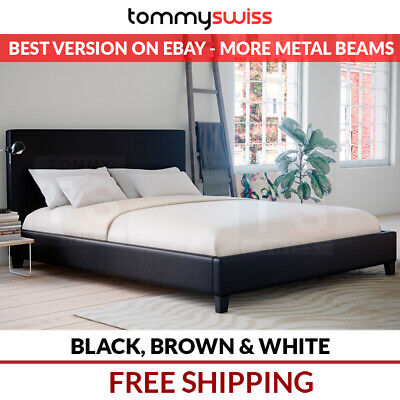 AU179 • Buy NEW PU Leather Bed Frame King, Queen, Double, KS, Single (Black, Brown & White)