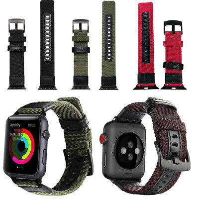 $ CDN17.35 • Buy For Apple Watch Series 4 3 2 1 38/40/42/44mm Nylon Replacment Watch Straps Bands