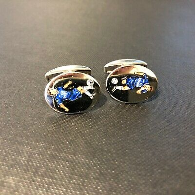 £1345 • Buy Chelsea FC 18ct White Gold Cufflinks By Deakin And Francis