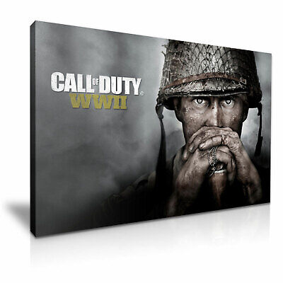 £12.99 • Buy Call Of Duty WWII Poster Picture Canvas Modern Art ~ 5 Size To Choose
