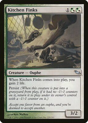 $2.69 • Buy Kitchen Finks Shadowmoor NM White Green Uncommon MAGIC GATHERING CARD ABUGames