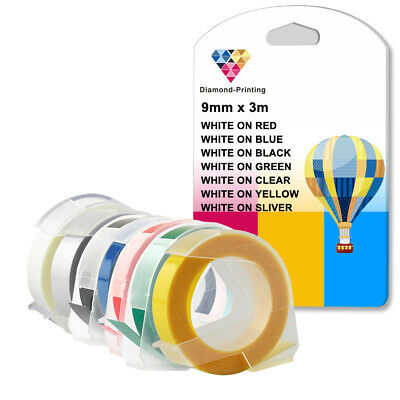 LOT Compatible Dymo Embossing Tapes 12814 17266 5500B 9mm 3m Tape Label Maker • 11.03£