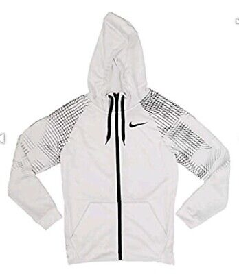 a0b029f8d New With Tags Nike At3722-100 Dri-fit Full Zip Fleece Hoodie White Size
