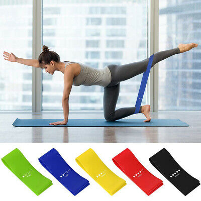 AU5.16 • Buy Resistance Bands Yoga Loop GYM Fitness Power Strength Home Gym