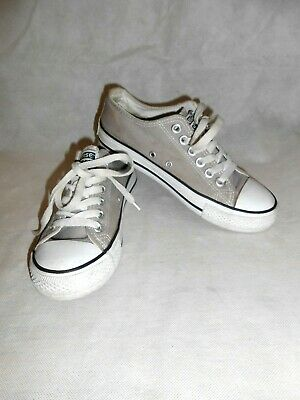 Women Denim Grey Converse Trainers Plimsolls Lace Up Low Top Size 3.5 • 17.90£