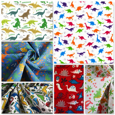 Children Fabric Masks Craft Dressmaking Dinosaurs Pre-historic T-rex Reptiles  • 4.50£