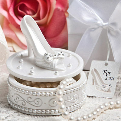 10-70 Magical Cinderella Shoe Trinket Boxes - Fairy Tale Wedding Party Favors • 44.25£