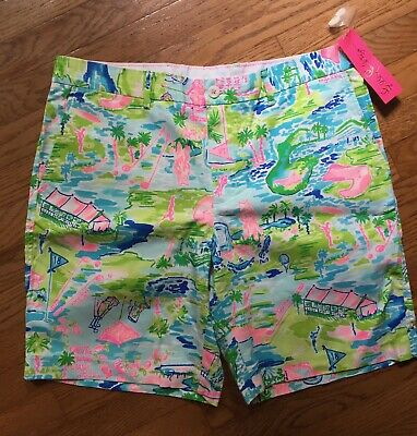 ad149a53724f5 Lilly Pulitzer Men's 36 Beaumont Shorts In Multi~HONDA CLASSIC TOILE 2019 •  84.95$