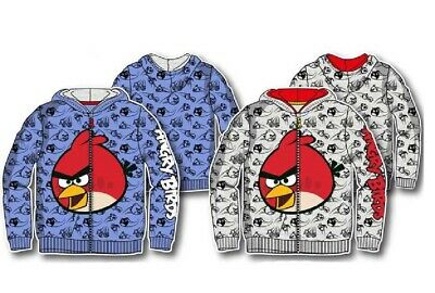 £13.99 • Buy Boys Angry Bird Hoodie Kids Angry Bird Jumper With Zip Opening Age 4-10 Years
