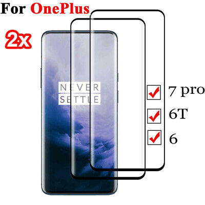 $ CDN1.79 • Buy For OnePlus 7 Pro 6/6T 3D Black Full Coverage Tempered Glass Screen Protector CA