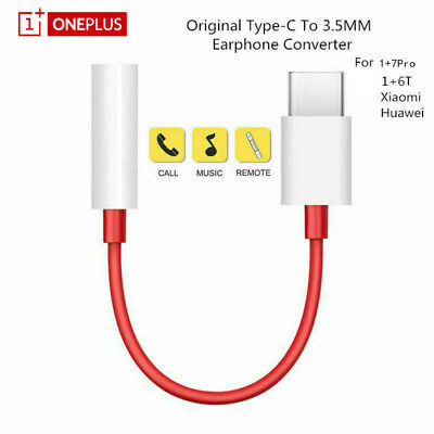 $ CDN2.27 • Buy For Oneplus 7 Pro 6T 5 USB Type C To 3.5mm Jack Earphone Adapter Aux Audio Cable