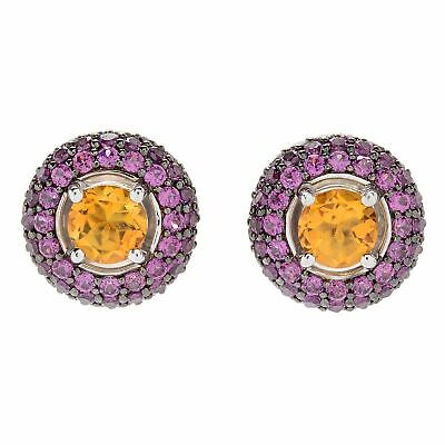 a0b20078e Victoria Wieck Collection SS Citrine And Rhodolite Studs • 0.99$