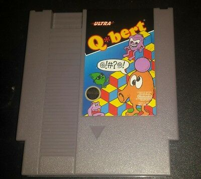 $ CDN10.15 • Buy Nintendo NES Qbert Q-Bert Cleaned & Tested