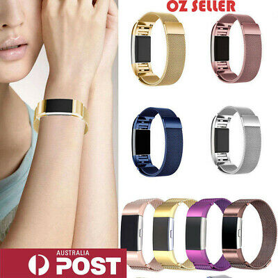 AU10.56 • Buy For Fitbit Charge 2 Band  Stainless Steel Metal Milanese  Loop Wristband Strap