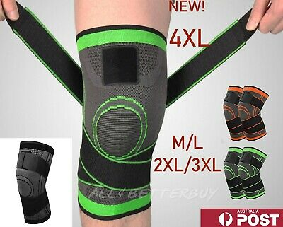 AU9.66 • Buy Weaving 3D Knee Brace Breathable Sleeve Support Running Jogging Joint Pain