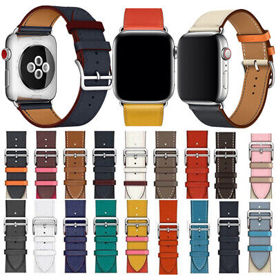 $ CDN15.03 • Buy Real Leather Watch Band Strap Belt Single Tour For Apple IWatch Series 4/3/2/1