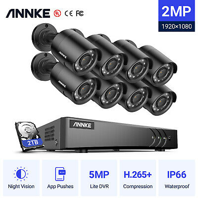 AU289.99 • Buy ANNKE 8CH CCTV Security 1080P 3000TVL Camera System 5MP DVR HD Home Outdoor 2TB