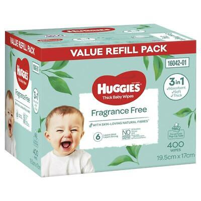 AU14.49 • Buy Huggies Fragrance Free Wipes 400 Pack