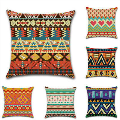 UK Cushion Cover Pillow Case Cotton Flax Retro Sofa Home Decor African Totem 18  • 4.91£