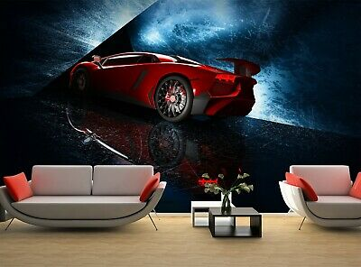 £57.53 • Buy Sports Car   Photo Wallpaper Wall Mural DECOR Paper Poster Free Paste