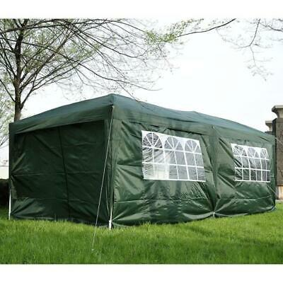 Green Pop Up Gazebo 6x3 Waterproof Canopy Marquee Camping Festival Tent Garden • 205.99£