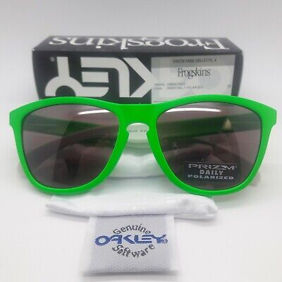 $107.99 • Buy NEW Oakley Frogskins Sunglasses Green Prizm Daily Polarized 9013-99 AUTHENTIC