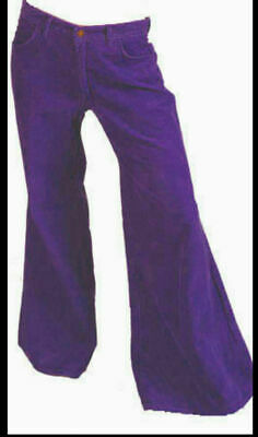 £24.99 • Buy Purple Cord Flares. 60s 70s Trousers Corduroy Pants. 38 Or 40  New Vintage