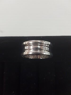 AU1247 • Buy BVLGARI BULGARI  18ct White Gold Ring Size O / 56
