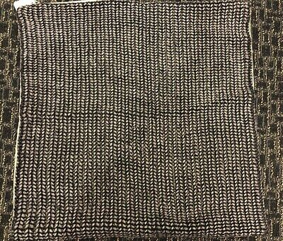 "$46 • Buy Pottery Barn Black Keva Pillow Cover 22"" Square Linen Rope Nautical NWT"
