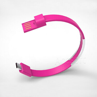 $8.85 • Buy Type C Classic TPE Bracelet Wrist Band USB Data Sync Charging Cable For PHONE US