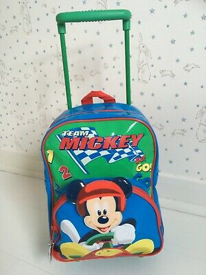 £9 • Buy Mickey Mouse Pull Along Trolley Case/Flight Bag