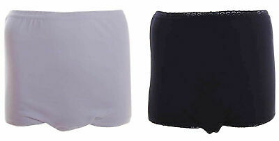 £11.49 • Buy Ladies Washable Pads White Black Incontinence Briefs Knickers 8/30 Plus Size
