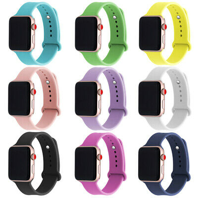 AU9.99 • Buy Silicone Sport Band Strap For Apple Watch IWatch Series 4 3 2 1 38/40mm 42/44mm