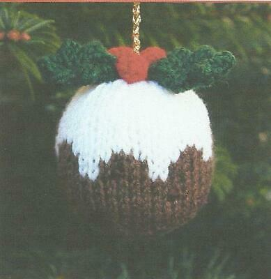 Knitting Pattern For Christmas Pudding Tree Decoration    (gold) • 1.75£