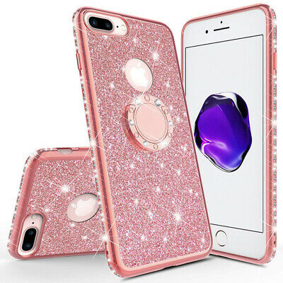 AU4.68 • Buy 3D Diamond Glitter Case For IPhone 6s 7 8 Plus With Ring Holder Glitter Cover