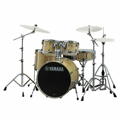 Drum Kit Yamaha Stage Custom 22  5 Piece Shell Drums W/ Hardware, Natural Wood • 1,025.99£