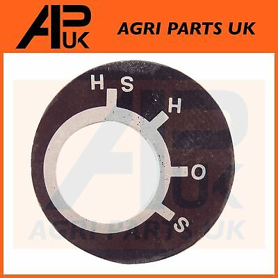 Massey Ferguson 35 65 135 835 FE35 Tractor Ignition Switch Position Key Plate • 4.90£