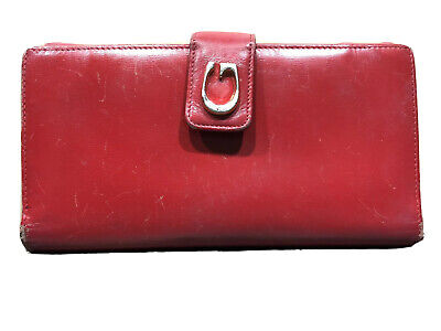 $39.99 • Buy Vintage Gucci Red Leather Wallet Checkbook Made In Italy