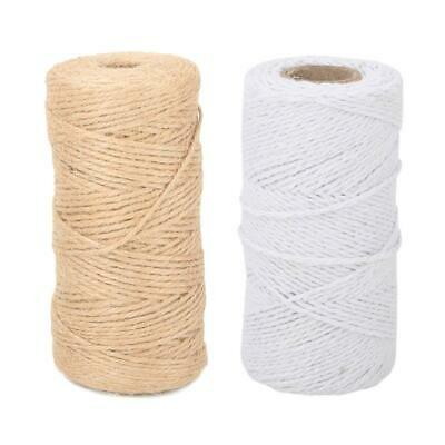 For Arts Craft Gift DIY 100m Natural Jute Burlap Hemp Twine String Cord Rope New • 3.85£