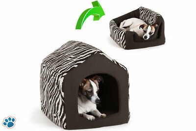AU29.99 • Buy Pet Dog Cat Dome Bed Kitten Cave Cubby Basket Sofa Crate Kennel Rabbit Pup