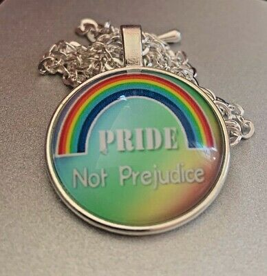 Pedant/Necklace Pride Cabochon Style/Summer Love Rainbow Assorted • 0.99£