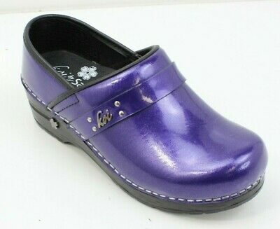 cc3effaeec93 Koi Sanita Patnet Purple Professional Stapled Nursing Clog Shoes Womens 36  5.5-6 • 44.99