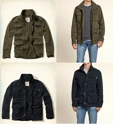a4e2c8c674753 NWT Hollister By Abercrombie A&F Men Military Jacket - Navy Size S , M •  69.90