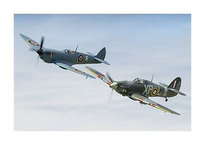 £5.99 • Buy Spitfire & Hurricane 1 A4 Photograph Picture Poster Choice Of Frame